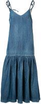 Co dropped waist denim dress - women - Cotton/Linen/Flax - XS