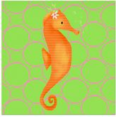 Oopsy Daisy Fine Art For Kids Penelope the Seahorse Canvas Wall Art