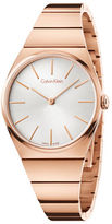 Calvin Klein Supreme Rose Goldtone Stainless Steel Bracelet Watch, K6C2X646