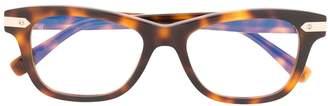 Hublot Eyewear tortoiseshell square-frame glasses