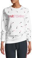 Zoe Karssen Parfemme Embroidered Boyfriend Sweatshirt