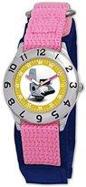Disney Kids' D058S503 WALL-E Time Teacher Pink Velcro Watch