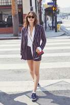 Forever 21 Stripe Double-Breasted Blazer