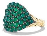 David Yurman Osetra Pinky Ring with Green Onyx and 18K Gold