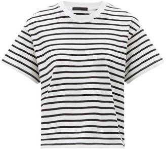 ATM - Striped Cotton-jersey T-shirt - Black White