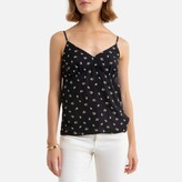 La Redoute Collections Floral Print Cami with V-Neck