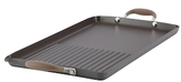 Anolon Advanced Hard-Anodized Non-Stick Double Burner Half Grill & Griddle Pan