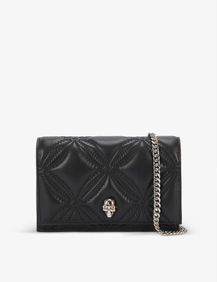 Alexander McQueen Skull quilted leather cross-body bag