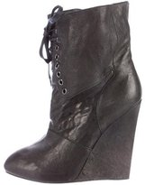 Giuseppe Zanotti Lace-Up Wedge Booties