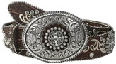 Ariat Embroidered and Studded Belt w/ Large Oval Buckle