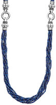 Lagos Caviar Icon Faceted Lapis Strand Necklace, 42""