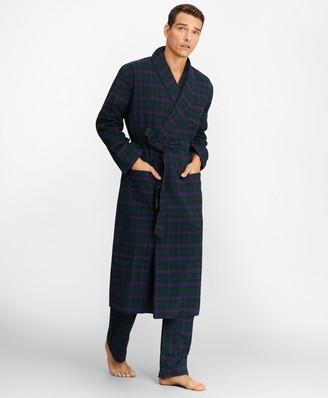 Brooks Brothers Tartan Flannel Robe