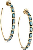 Ippolita Rock Candy Gelato® 18k Blue Topaz Hoop Earrings