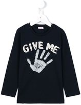 Il Gufo Give Me hand print top