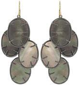 Annette Ferdinandsen Black Mother of Pearl Lunaria Cluster Earrings - Oxidized Sterling Silver