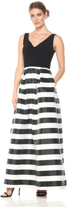 JS Collections Women's Striped Gown