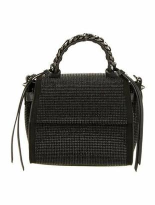 Elena Ghisellini Crystal Embellished Crossbody Bag Black