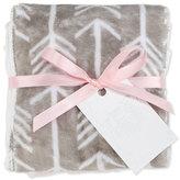 Swankie Blankie Arrow Burp Cloth Set, Pink/Slate
