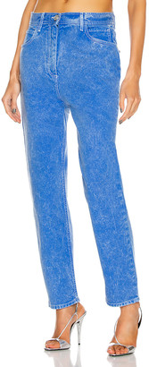 Balmain Acid Wash Boyfriend in Blue & White | FWRD