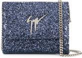 Giuseppe Zanotti Design Luce glitter shoulder bag
