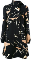 Valentino printed funnel neck mini dress - women - Silk - 40
