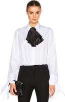 Isa Arfen Taffeta Bow & Tie Sleeve Top