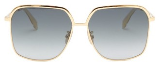 Celine Oversized Squared Metal Sunglasses - Gold