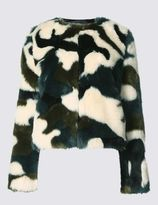 Marks and Spencer Camouflage Faux Fur Jacket
