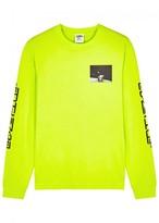 Billionaire Boys Club Eva Fluorescent Yellow Printed Cotton Top