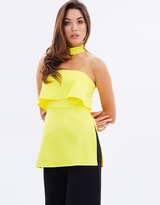 Lumier Body Language Top with Neck Tab