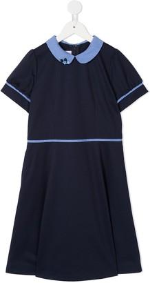 Familiar Contrast Short-Sleeve Dress
