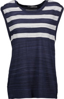 Jonathan Simkhai Striped coated slub jersey tank