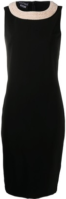 Boutique Moschino Beaded Collar Shift Dress
