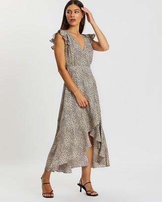 Atmos & Here Marley Leopard Wrap Dress