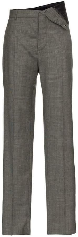 Y/Project Y / Project straight leg asymmetric waist trousers