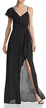 BCBGMAXAZRIA Asymmetric Faux-Wrap Gown - 100% Exclusive