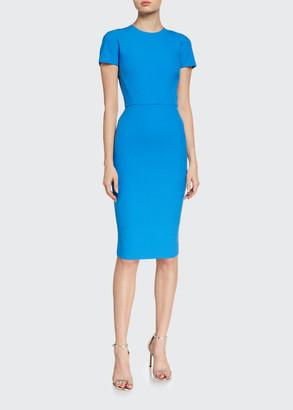 Victoria Beckham Crepe Short-Sleeve T-Shirt Dress