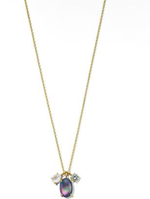 Ippolita 18K Rock Candy Luce 3-Stone Pendant Necklace in Blu Notte