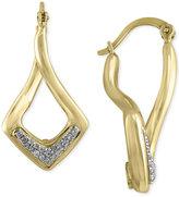 Effy D'Oro by Diamond Twist Hoop Earrings (1/6 ct. t.w.) in 14k Gold