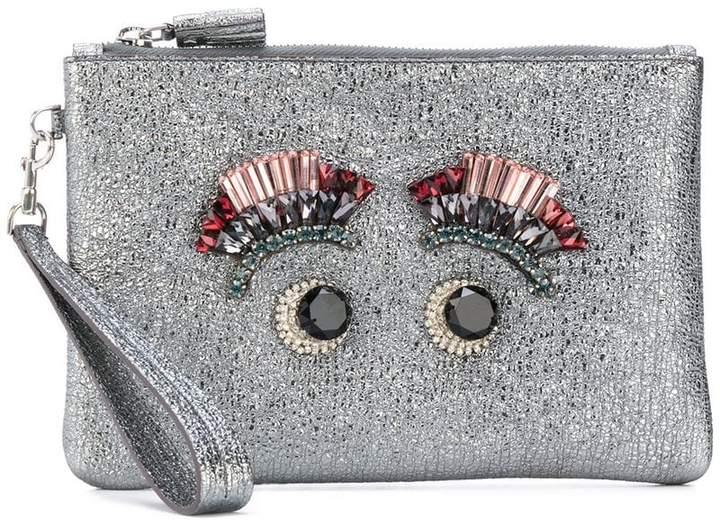 Anya Hindmarch eyes embellished glittery clutch