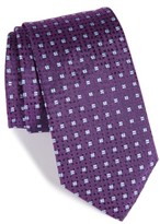 HUGO Men's Boss Geometric Silk Tie