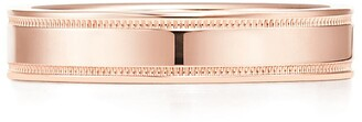 Tiffany & Co. Essential Band double milgrain ring in 18ct rose gold, 4 mm wide