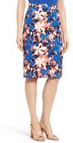 Women's Halogen Floral Print Pencil Skirt