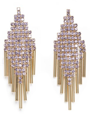Vince Camuto Pave Mesh & Bar Drop Earrings