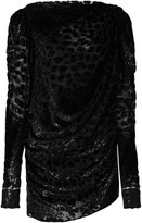 Saint Laurent leopard woven gathered mini dress - women - Silk/Polyamide/Polyester/Viscose - 38