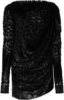Saint Laurent leopard woven gathered mini dress