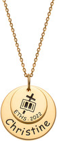 Limoges Jewelry Women's Necklaces GOLD - 14k Gold-Plated Graduation Engraved Cross & Bible Personalized Pendant Necklace