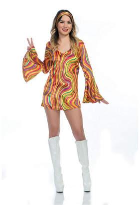 BuySeasons Women Rainbow Lights Disco Diva Adult Costume