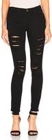 Frame Le Color Rip Jean in Black.