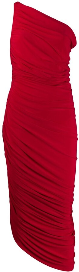 Norma Kamali ruched detail asymmetric dress